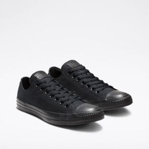 ALL BLACK converse low top unisex